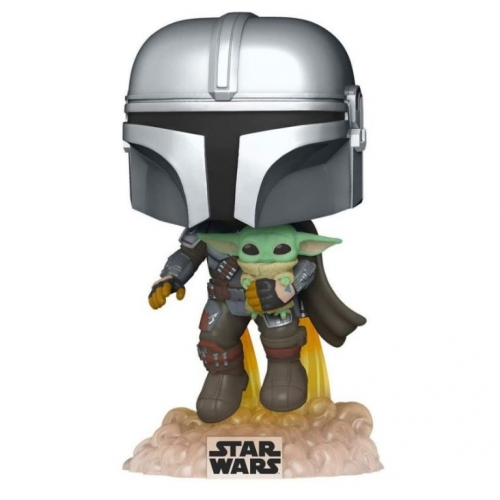 The Mandalorian with The Child flying with Jet Pack (Funko Pop! nr 402)